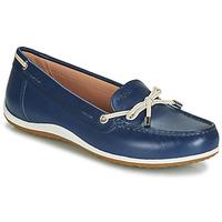 Schuhe Damen Slipper Geox D VEGA MOC Blau