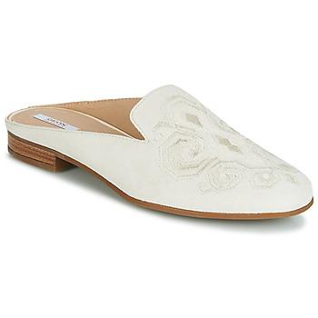 Schuhe Damen Pantoffel Geox D MARLYNA Weiss / Gestickt
