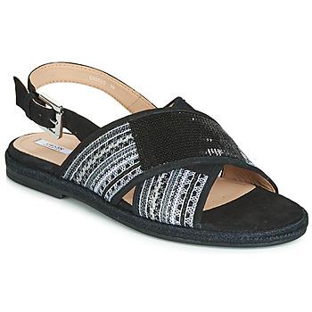 Schuhe Damen Sandalen / Sandaletten Geox D KOLEEN Schwarz