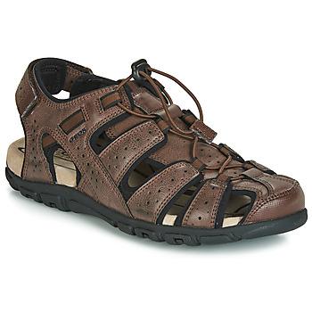 Schuhe Herren Sportliche Sandalen Geox UOMO SANDAL STRADA Braun