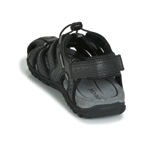 Geox UOMO SANDAL STRADA Schwarz Sportliche  Schuhe Sportliche Schwarz Sandalen Herren 25af66