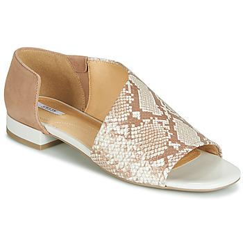 Schuhe Damen Sandalen / Sandaletten Geox D WISTREY SANDALO Beige / Ecaille