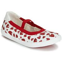 Schuhe Mädchen Ballerinas Geox J KILWI GIRL Weiss / Rot
