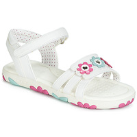 Schuhe Mädchen Sandalen / Sandaletten Geox J SANDAL HAITI GIRL Weiss