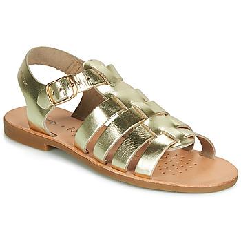Schuhe Mädchen Sandalen / Sandaletten Geox J SANDAL VIOLETTE GI Gold