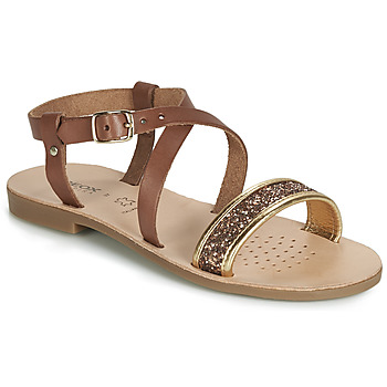 Schuhe Mädchen Sandalen / Sandaletten Geox J SANDAL VIOLETTE GI Braun