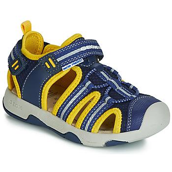 Schuhe Jungen Sandalen / Sandaletten Geox B SANDAL MULTY BOY Blau / Gelb