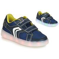 Schuhe Jungen Sneaker Low Geox J KOMMODOR BOY Blau /  led