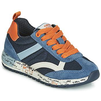 Schuhe Jungen Sneaker Low Geox J ALBEN BOY Marine / Orange