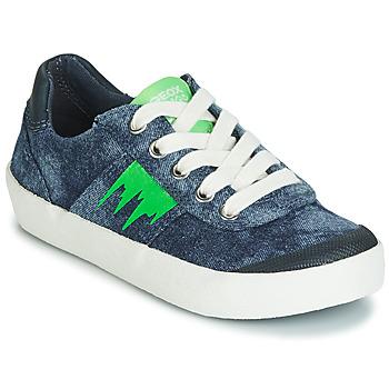 Schuhe Jungen Sneaker Low Geox J KILWI BOY Blau / Grün