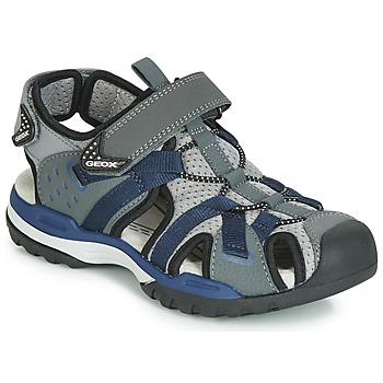 Schuhe Jungen Sportliche Sandalen Geox J BOREALIS BOY Grau / Marine