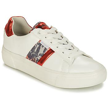 Schuhe Damen Sneaker Low Refresh 69954 Weiss / Rot
