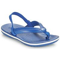 Schuhe Kinder Zehensandalen Crocs CROCBAND STRAP FLIP K Blau