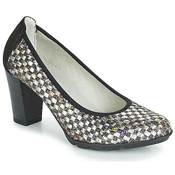 Schuhe Damen Pumps Dorking 7736 Grau / Schwarz