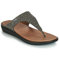 Schuhe Damen Sandalen / Sandaletten FitFlop BANDA II DOTTED-SNAKE Schwarz