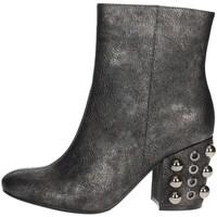 Schuhe Damen Low Boots Luciano Barachini BB242V Halbstiefel Mit Absatzt Damen Anthrazitgrau Anthrazitgrau