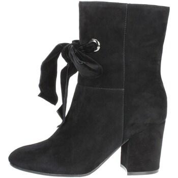 Schuhe Damen Low Boots Luciano Barachini BB241A Halbstiefel Mit Absatzt Damen Schwarz Schwarz