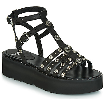 Schuhe Damen Sandalen / Sandaletten Fru.it 5433-476 Schwarz / Clou