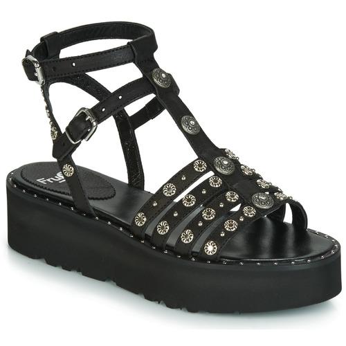 Fru  5433-476 Schwarz     Clou  Schuhe Sandalen   Sandaletten Damen 1cd5ad