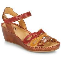 Schuhe Damen Sandalen / Sandaletten Pikolinos MARGARITA 943 Rot / Braun