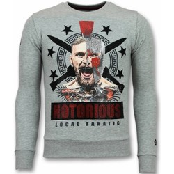 Kleidung Herren Sweatshirts Local Fanatic Notorious Mcgregor Warrior Grau