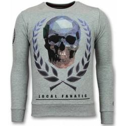 Kleidung Herren Sweatshirts Local Fanatic Totenkopf Skull Strasssteine Grau