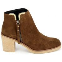 Schuhe Damen Low Boots Porronet Boots 4032 Marron Braun
