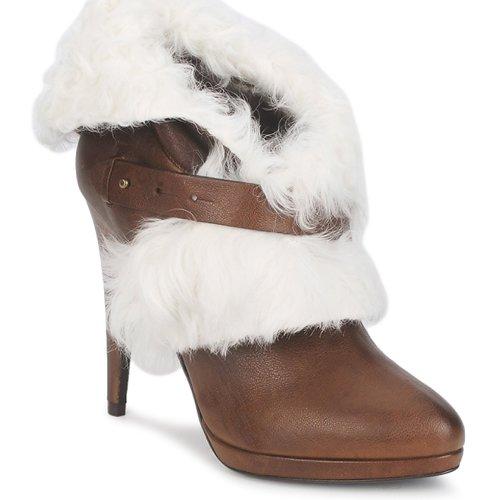 Schuhe Damen Low Boots Roberto Cavalli QPS586-PJ027 Braun / Weiss