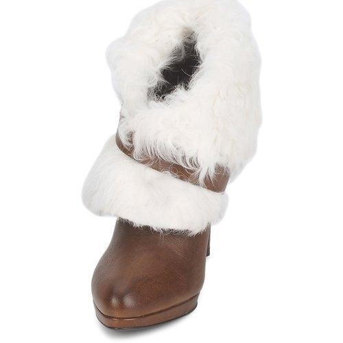 Roberto Cavalli  QPS586-PJ027 Braun / Weiss  Cavalli Schuhe Low Boots Damen 583,20 2c5f1d