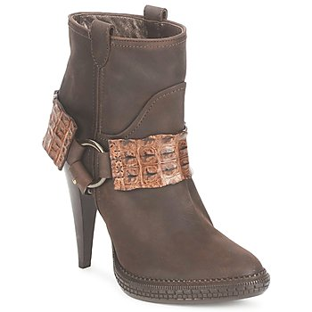 Schuhe Damen Low Boots Roberto Cavalli QPS577-PK206 Braun