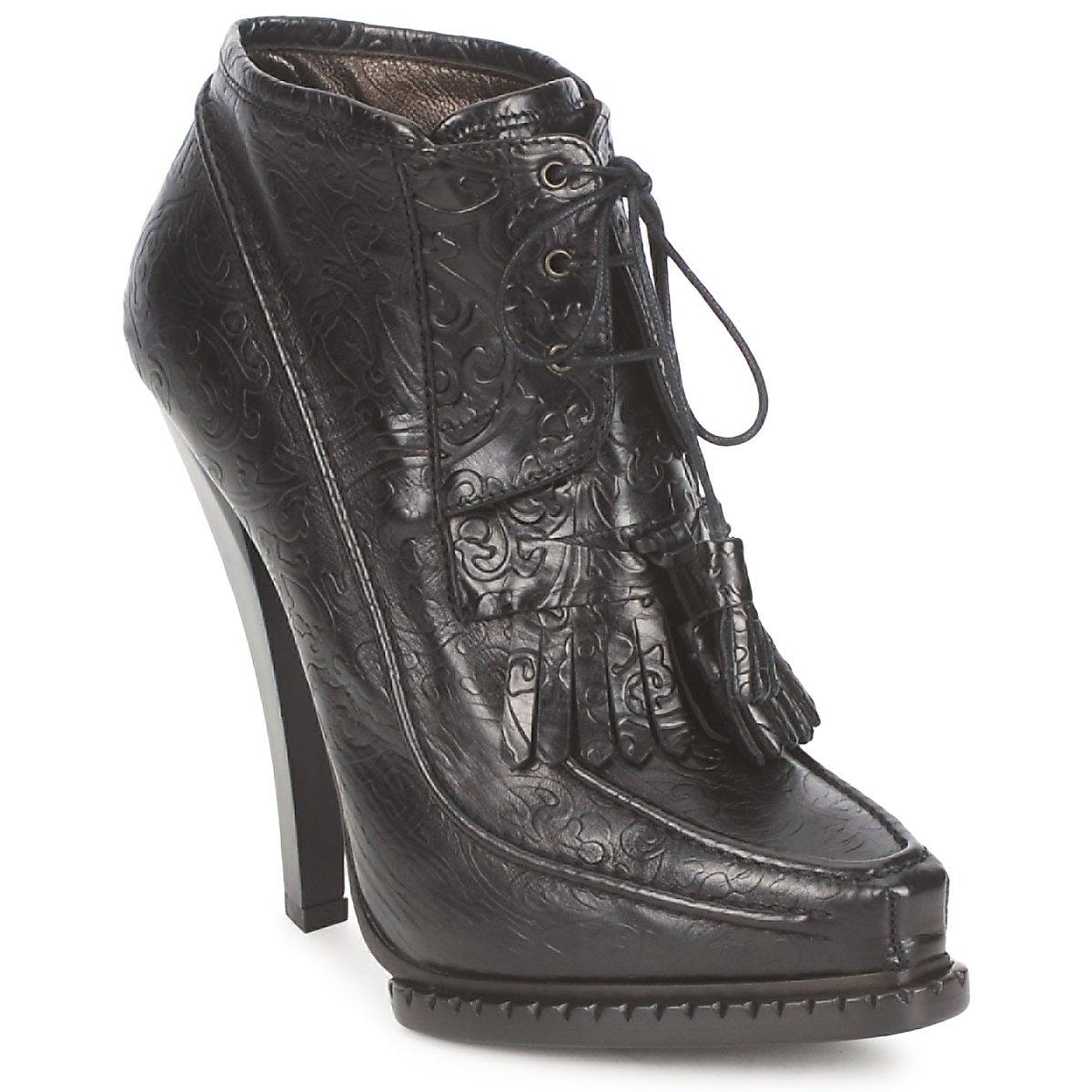 Roberto Cavalli QDS640-PZ030 Schwarz - Kostenloser Versand bei Spartoode ! - Schuhe Low Boots Damen 599,50 €