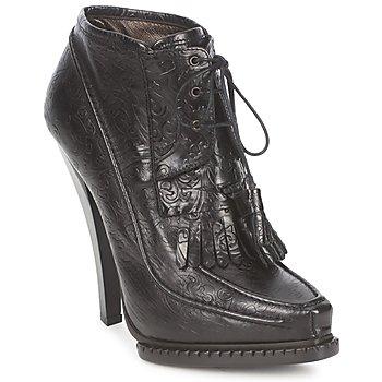 Schuhe Damen Low Boots Roberto Cavalli QDS640-PZ030 Schwarz