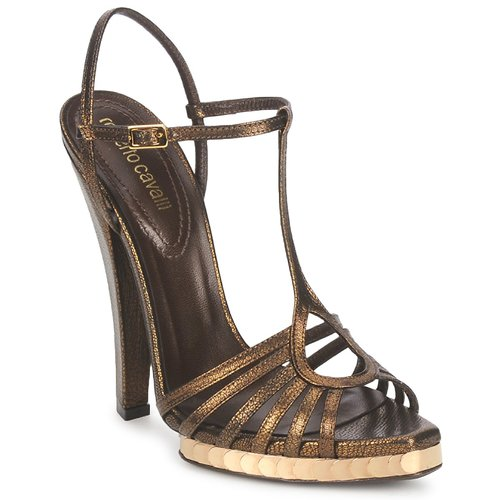 Roberto Cavalli QDS627-PM027 Bronze  Schuhe Sandalen   Sandaletten Damen