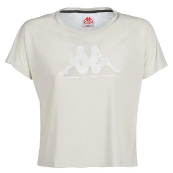 Kleidung Damen T-Shirts Kappa YERRI Beige / Grau
