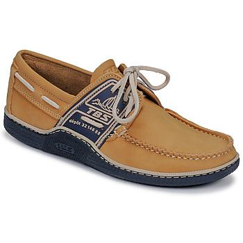 Schuhe Herren Bootsschuhe TBS GLOBEK Gelb / Marine