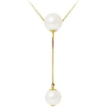 Uhren Damen Collier Blue Pearls 8-9 mm 2 Perlen Halskette mit Weissen Zuchtperlen und 750/1000 G Multicolor