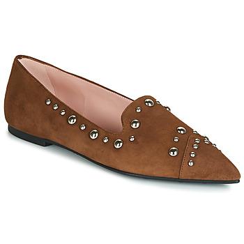 Schuhe Damen Slipper Pretty Ballerinas ANGELIS Braun