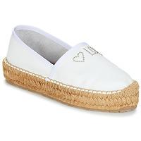 Schuhe Damen Leinen-Pantoletten mit gefloch Love Moschino JA10163G07 Weiss