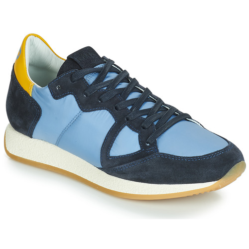 Schuhe Damen Sneaker Low Philippe Model MONACO VINTAGE BASIC Blau / Gelb