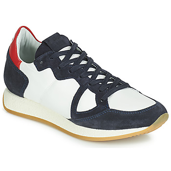 Schuhe Damen Sneaker Low Philippe Model MONACO VINTAGE BASIC Weiss / Marine