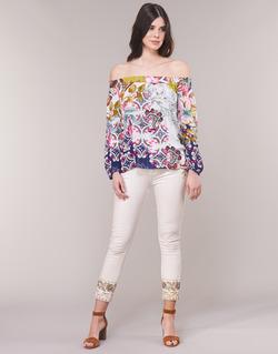 Kleidung Damen Straight Leg Jeans Desigual SARI WHITE Marine