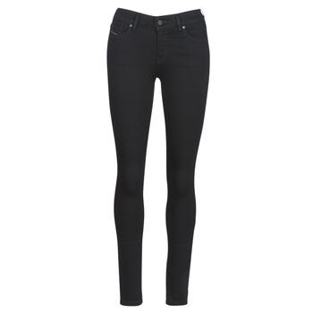 Kleidung Damen Slim Fit Jeans Diesel SLANDY Schwarz / 069ef