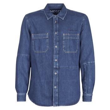 Kleidung Herren Langärmelige Hemden Diesel D FRED Blau