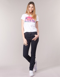 Kleidung Damen Straight Leg Jeans Levi's 724 HIGH RISE STRAIGHT Weiss / grau / stahl / Nine