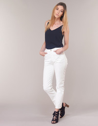 Kleidung Damen Straight Leg Jeans Levi's 501 CROP Weiss / grau / stahl / Clouds