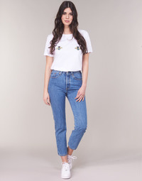 Kleidung Damen Straight Leg Jeans Levi's 501 CROP Lost / Cause