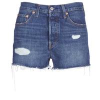 Kleidung Damen Shorts / Bermudas Levi's 502 HIGH RISE SHORT Blau