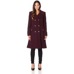 Kleidung Damen Mäntel De La Creme Wintermantel aus Kaschmirwolle Red
