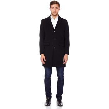 Kleidung Herren Mäntel De La Creme Herren Kaschmirwolle Wintermantel Black