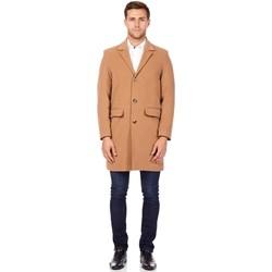 Kleidung Herren Mäntel De La Creme Wintermantel aus Kaschmirwolle BEIGE